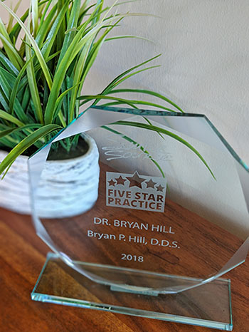 Award at Bryan Hill, DDS